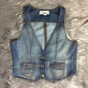 Forever 21 Blue Jean Vest